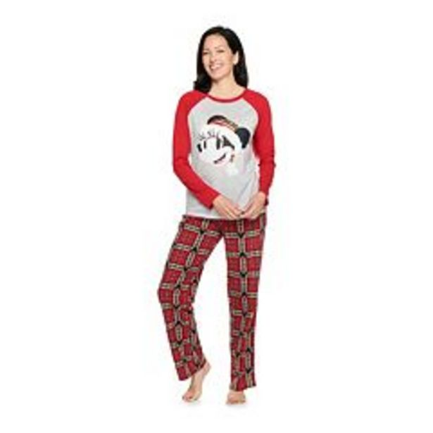 Disney's Minnie Mouse Women's Mickey Family Pajama Set by Jammies For Your Families® deals at $32.2