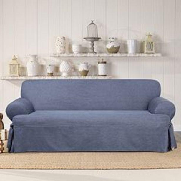 Sure Fit Authentic Denim T-Sofa Slipcover deals at $171.99
