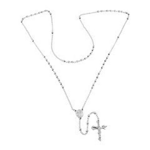 Steel Nation Stainless Steel Rosary Necklace deals at $29.99