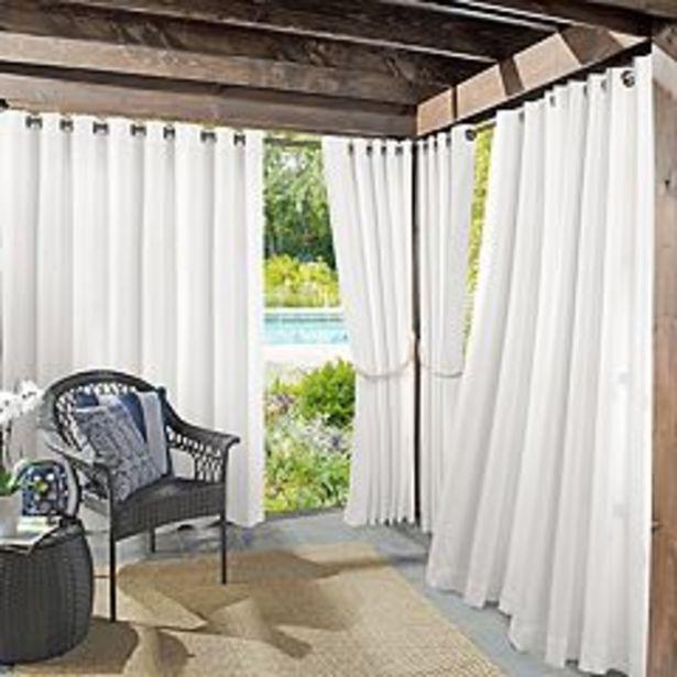 Sun Zero 1-Panel UV Blocking Reed Indoor / Outdoor Woven Curtain deals at $39.99