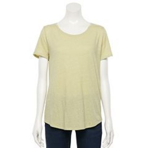 Women's Sonoma Goods For Life® Essential Crewneck Tee deals at $3.25