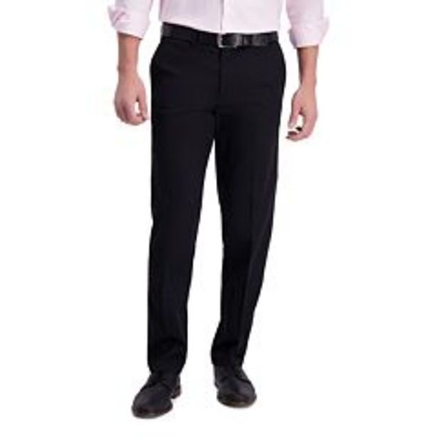 Men's Haggar® Iron Free Premium Khaki™ Straight-Fit Flat Front Perfect Fit Waistband Casual Pant deals at $39.99