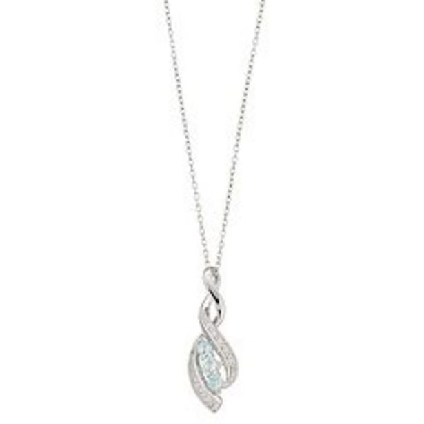 RADIANT GEM Sterling Silver Blue Topaz, White Sapphire & Diamond Accent Infinity Pendant Necklace deals at $29.99