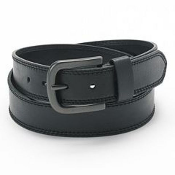 Men's Dickies Double-Stitched Faux Leather Belt deals at $18