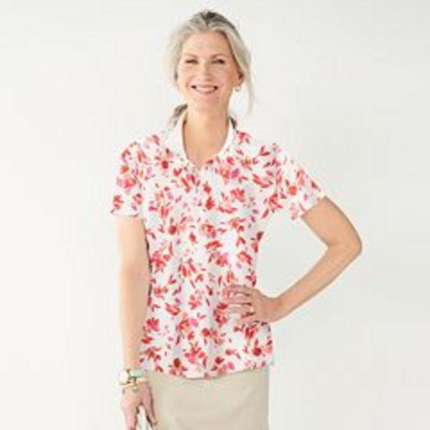 Women's Croft & Barrow® Essential Extra-Soft Polo Shirt deals at $4