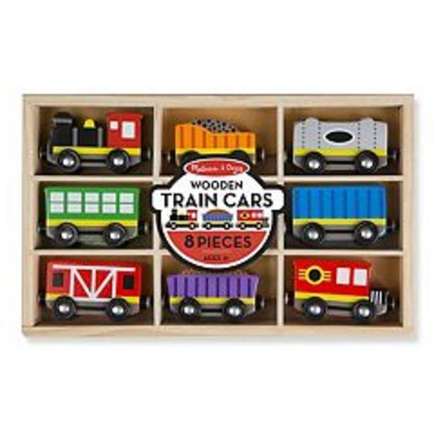 Melissa & Doug Wooden Train Cars Set deals at $18.69