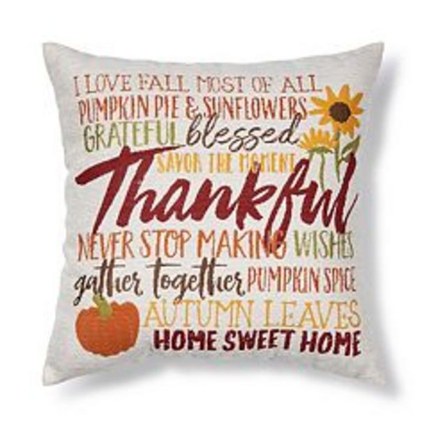 Celebrate Fall Together Harvest Tapestry Word Throw Pillow deals at $17.99