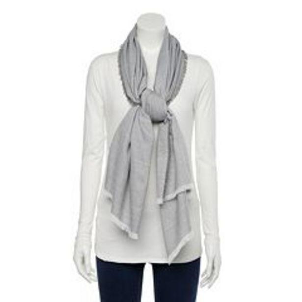 Women's LC Lauren Conrad Metallic Stripe Softy Wrap Scarf deals at $4.8