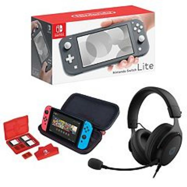 Nintendo Switch Lite with Kinetic 212 Wired Headset & RDS Deluxe Travel Case Bundle deals at $244.99