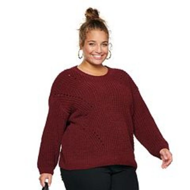 Juniors' SO® Shaker Chenille Pullover Sweater deals at $26.99