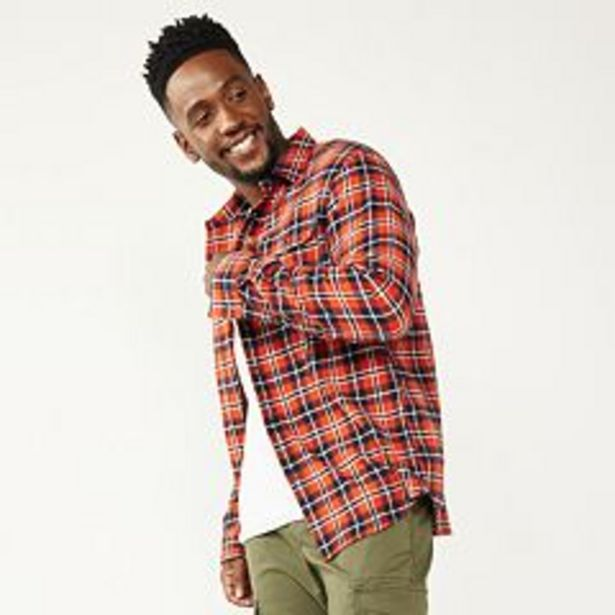Men's Sonoma Goods For Life® Flannel Woven Button-Down Shirt deals at $29.99