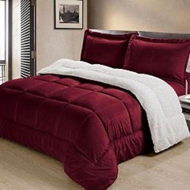 Swift Home Ultra Plush Reversible Micromink & Sherpa Fleece Comforter Set deals at $55.99