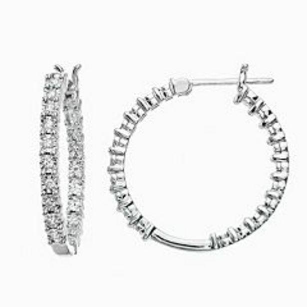 Diamond Brilliance Sterling Silver 1/10 Carat T.W. Diamond Hoop Earrings deals at $39.99