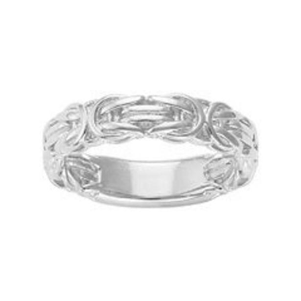 Jordan Blue Sterling Silver Byzantine Ring deals at $43.75