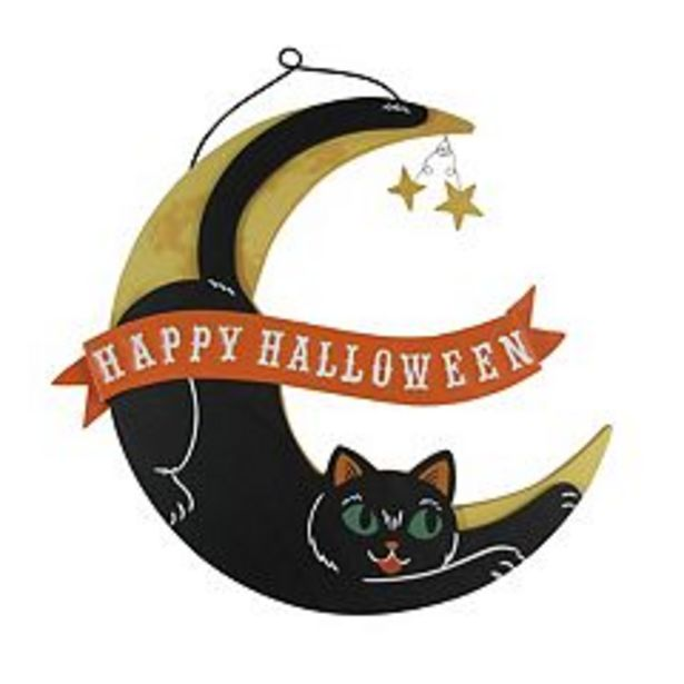 Celebrate Halloween Together Cat In The Moon Wall Decor deals at $15.99