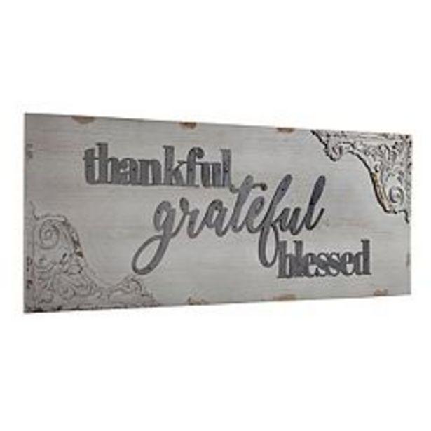 Vintage Thankful Grateful Wall Decor deals at $120