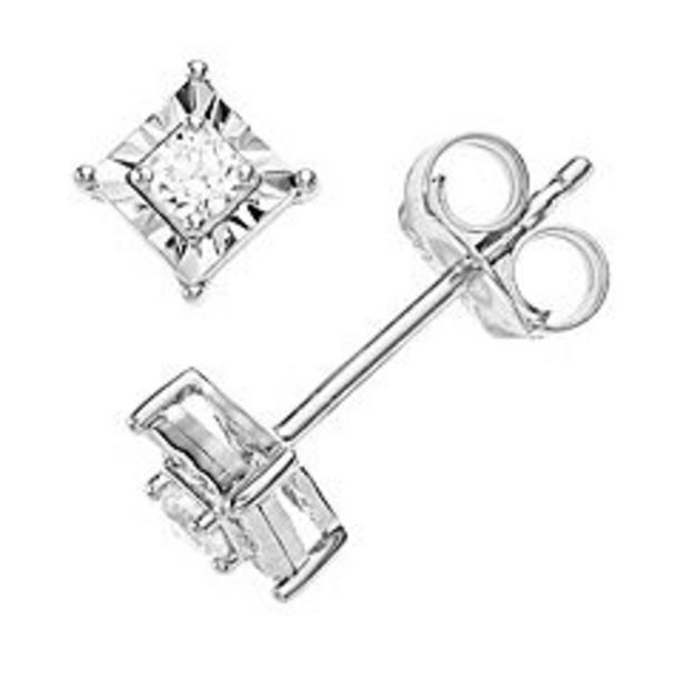 Diamond Brilliance Sterling Silver 1/10 Carat T.W. Diamond Stud Earrings deals at $39.99