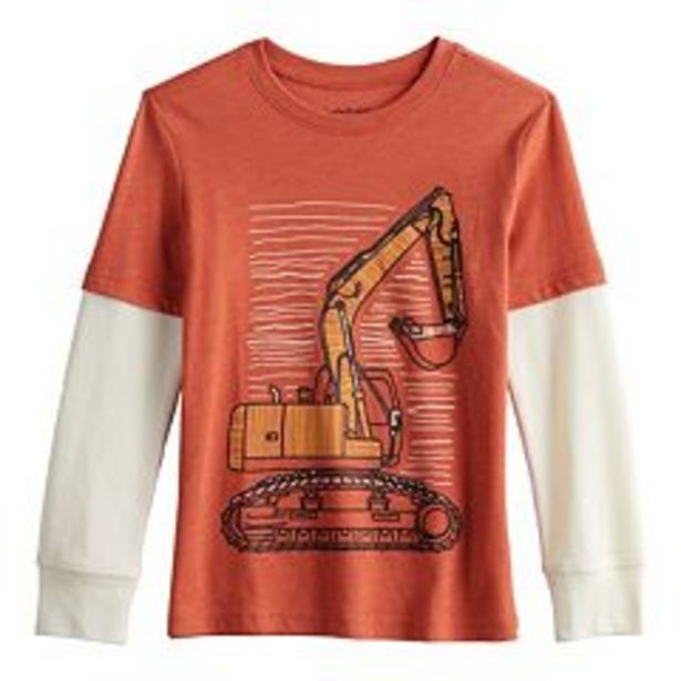 Boys 4-12 Jumping Beans® Skater Tee with Thermal Sleeves deals at $8.99