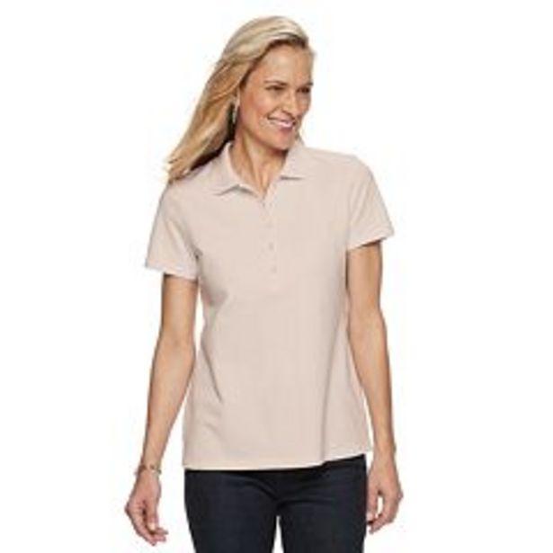 Women's Croft & Barrow® Essential Extra-Soft Polo Shirt deals at $4.8