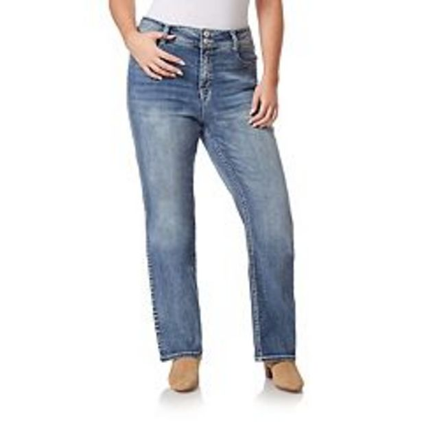 Juniors' Plus Size WallFlower Insta Stretch Luscious Curvy Bling Bootcut Jeans deals at $44.99
