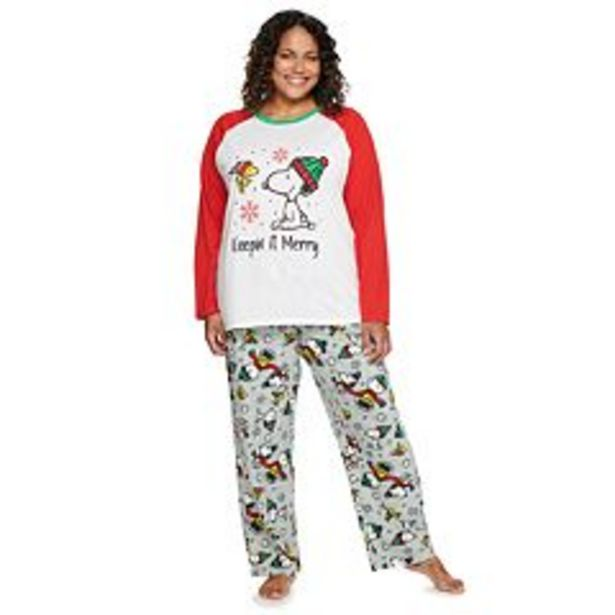 Plus Size Jammies For Your Families® Peanuts Pajama Set deals at $35