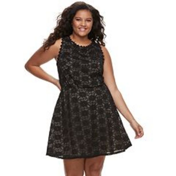 Juniors' Plus Size Lily Rose Lace Skater Dress deals at $34.99