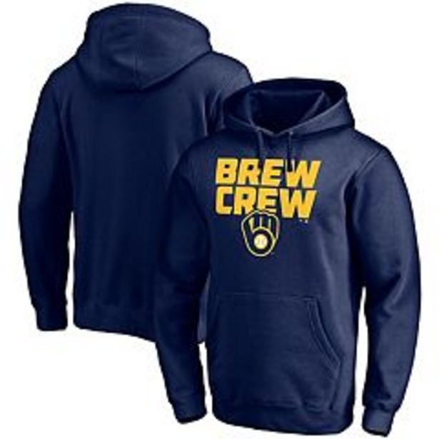 Men's Fanatics Branded Navy Milwaukee Brewers Hometown Collection Pullover Hoodie deals at $64.99