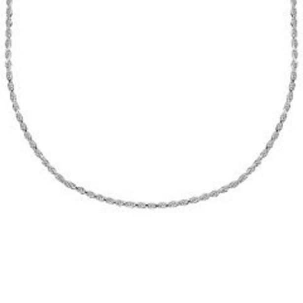 PRIMROSE Sterling Silver Diamond Cut Rope Chain deals at $95