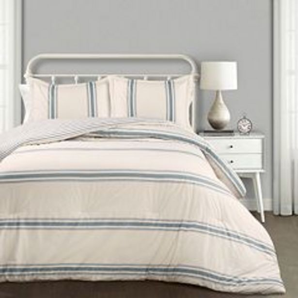 Lush Decor Farmhouse Stripe Comforter Set deals at $75.99