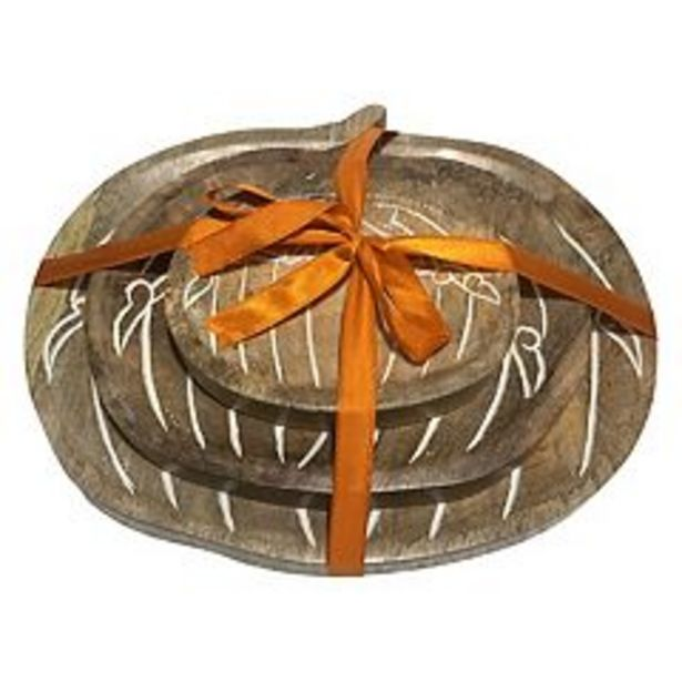 Celebrate Fall Together Nesting Pumpkin Decorative Bowl Table Decor 3-piece Set deals at $24.99