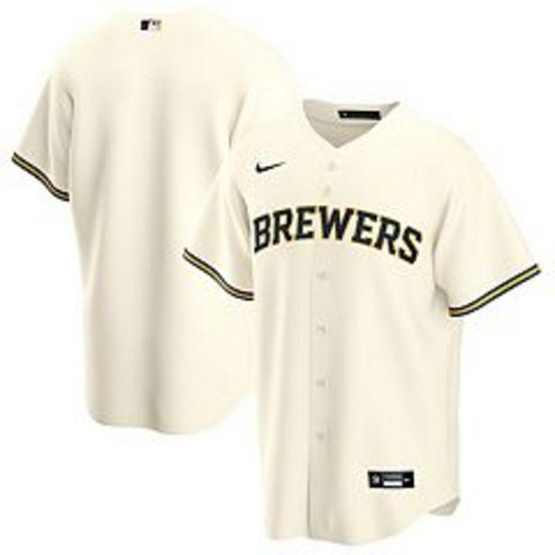Men's Nike Cream Milwaukee Brewers Home Replica Team Jersey deals at $114.99