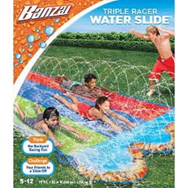 Banzai Triple Racer Water Slide deals at $12.49