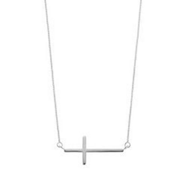 Timeless Sterling Silver Sideways Cross Necklace deals at $29.99