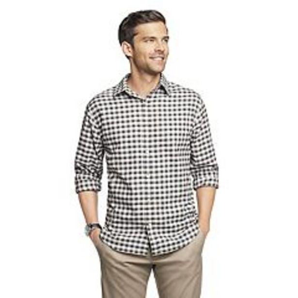 Men's Van Heusen Weekend Never Tuck Twill Button-Down Shirt deals at $30