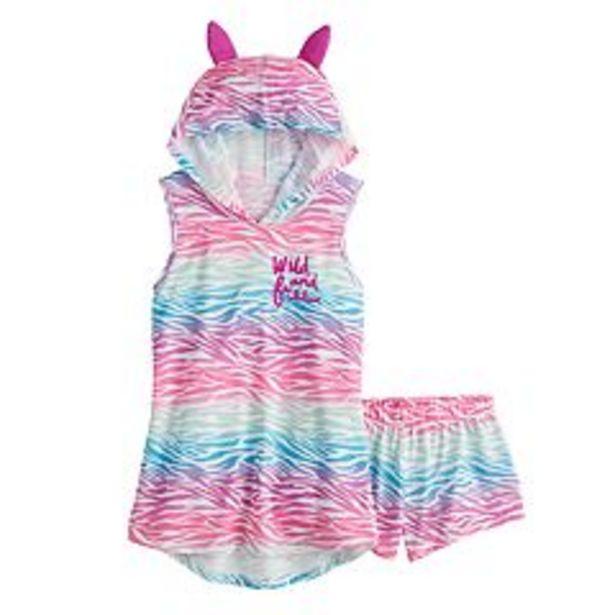 Girls 6-18 SO® Hooded Tank Top & Shorts Pajama Set in Regular & Plus Size deals at $13.5