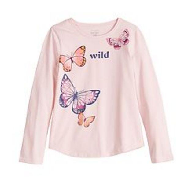 Girls 4-12 Jumping Beans® Long-Sleeve Basic Shirttail Tee deals at $5.99