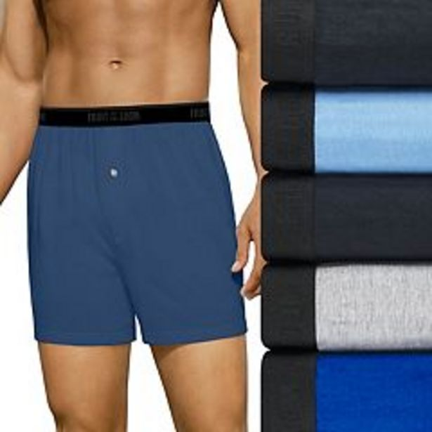 Men's Fruit of the Loom® 5-pack Boxers deals at $30.4