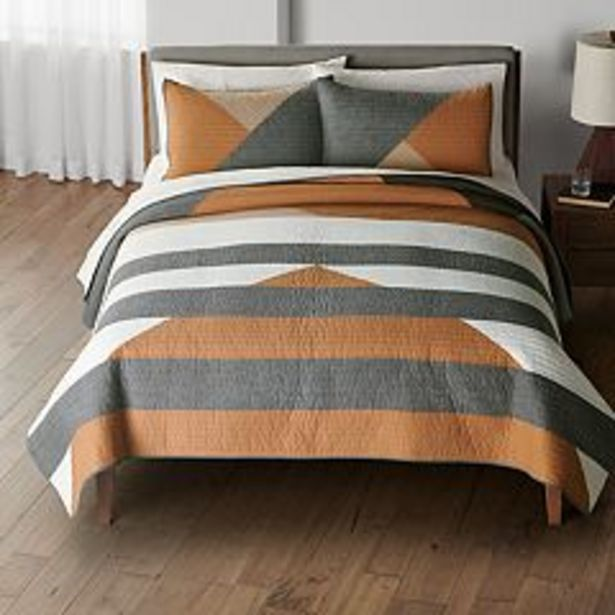 Sonoma Goods For Life® New Traditions Thane Triangles Quilt or Sham deals at $23.99