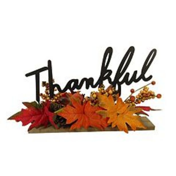 Celebrate Fall Together Thankful Faux Leaf Table Decor deals at $19.99