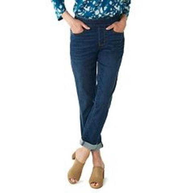 Women's Croft & Barrow® Girlfriend Pull-On Jeans deals at $29.99
