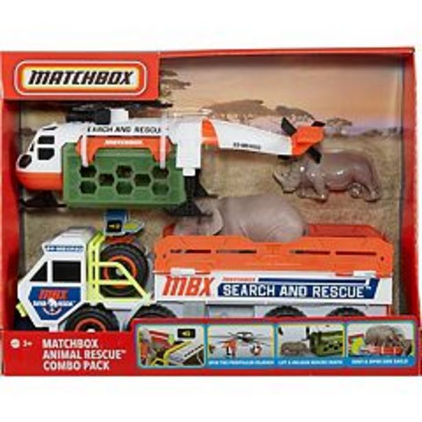 Matchbox Animal Rescue Combo Pack Vehicles deals at $15.74