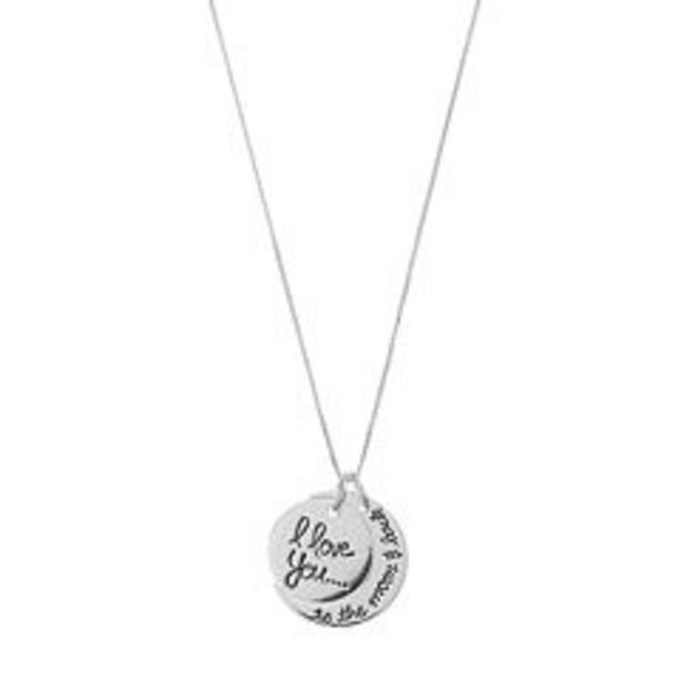Timeless Sterling Silver I Love You to the Moon & Back Pendant Necklace deals at $29.99