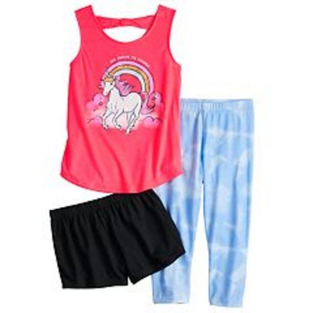 Girls 6-14 SO® Tank, Shorts & Capris Pajama Set deals at $12.6