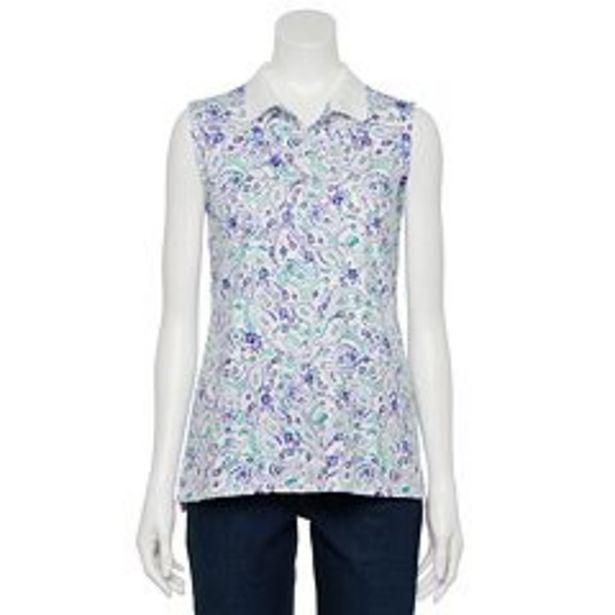 Women's Croft & Barrow® Essential Extra Soft Sleeveless Polo Shirt deals at $4