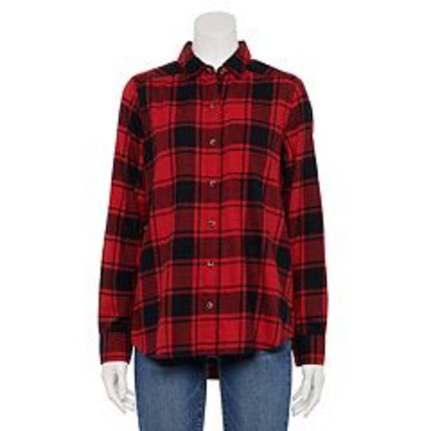 Juniors' SO® Flannel Shirt deals at $29.99