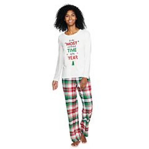 """Women's Jammies For Your Families® Christmas Kitsch """"Wonderful Time of The Year"""" Pajama Set In Regular & Tall deals at $29.4"""