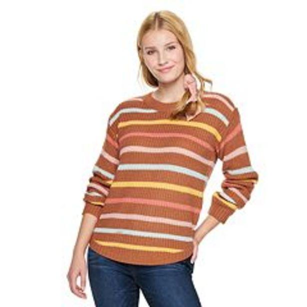Juniors' SO® Shirttail Hem Sweater deals at $24.99