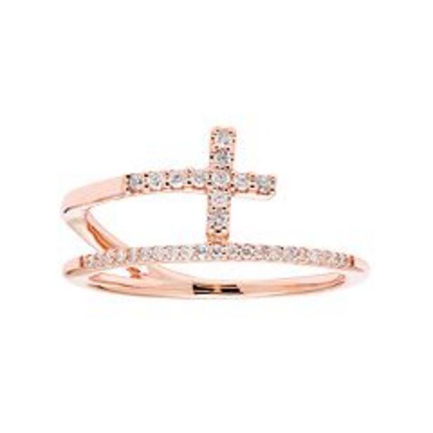 10k Gold 1/6 Carat T.W. Diamond Cross Ring deals at $380