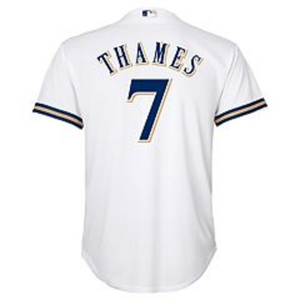 Boys 8-20 Milwaukee Brewers Eric Thames Replica Jersey deals at $26