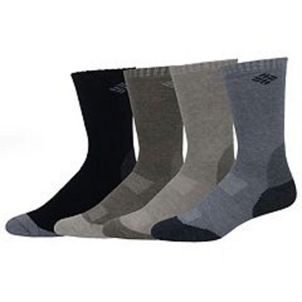 Men's Columbia 4-pack Wool-Blend Socks deals at $5.6
